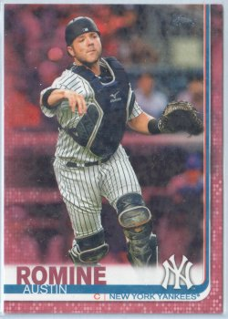 2019 Topps Mothers Day Pink Austin Romine
