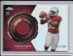 2013 Topps Chrome Rookie Relic Refractor Jersey - Stepfan Taylor
