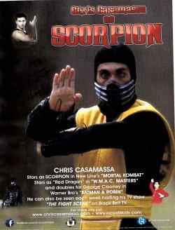 "Chris Casamassa ""Scorpion"" 8x10 TTM Autograph"