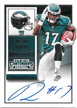 2015 Panini Contenders Rookie Ticket Autographs Nelson Agholor