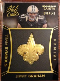 2014 Panini Black Gold Jimmy Graham Team Symbols