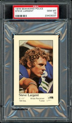 1979  Seahawks Police Steve Largent