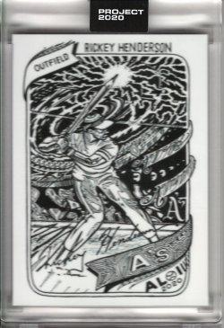 2020 Topps Project 2020 by JK5 Rickey Henderson 1980 Topps Baseball