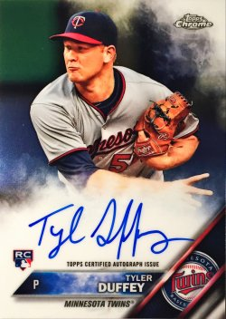 2016 Topps Chrome Rookie Autographs Tyler Duffey