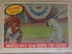 1959 Topps Thrills Mickey Mantle