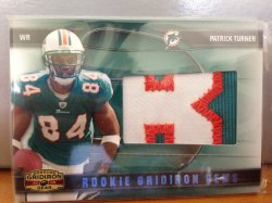 2009 Donruss Gridiron Gear Patrick Turner Patch /50