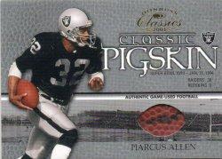 2003 Donruss Classics Marcus Allen Classic Pigskin SB ball