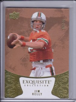 Jim Kelly 2014 UD Exquisite Collection /75
