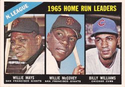 1966 Topps  Willie Mays / Willie McCovey / Billy Williams