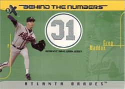 2003 E-X Behind the Numbers Game Jersey - 199