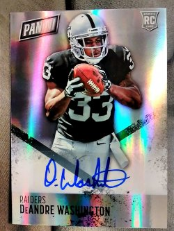2016 Panini Day Promo DeAndre Washington Rookie Autograph Prizms