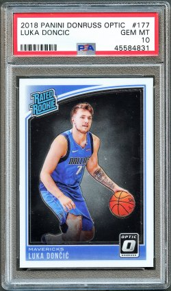 2018   Luka Doncic Optic Rated Rookie RC PSA 10