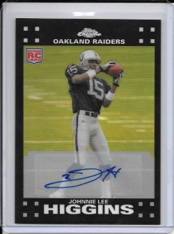 2007 Topps Chrome Refractor Rookie Autograph - Johnnie Lee Higgins