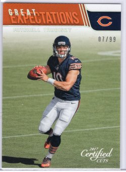 2017 Donruss Certified Cuts Mitchell Trubisky Great Expectations Silver