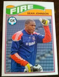 2013 Topps MLS 1978 English Footballer Set Sean Johnson