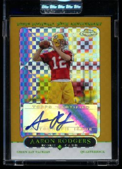 2005 Topps Chrome Gold XFractor Aaron Rodgers