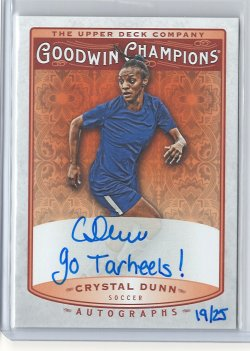 2019 Upper Deck Goodwin Crystal Dunn Inscription Autograph