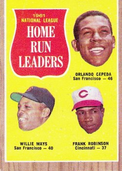 1962 Topps  Willie Mays / Orlando Cepeda / Frank Robinson
