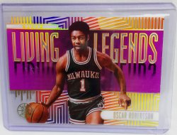 2019 Panini Illusions Oscar Robertson Living Legends purple