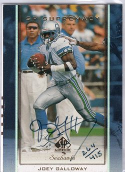 2000 Upper Deck SP Authentic Joey Galloway