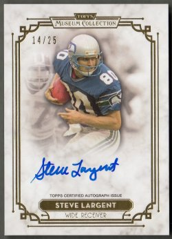 2013 Topps Museum Collection Signature Series Autographs Gold Steve Largent