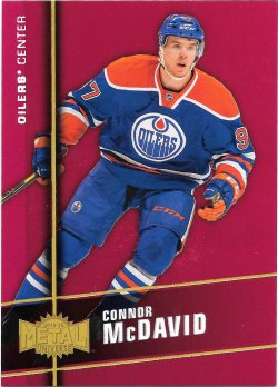 2015-16 Fleer Showcase Precious Metal Gems Red Connor McDavid