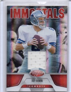 2011 Panini Certified Troy Aikman Immortals Red GU