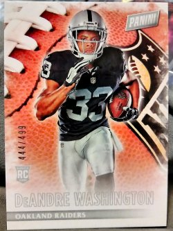 2016 Panini Black Friday DeAndre Washington Rookie #1