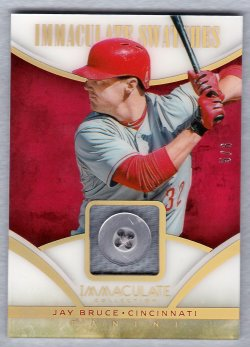 2014 Panini Immaculate Jay Bruce - Button