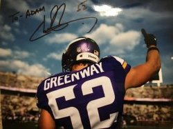 Chad Greenway Signed 8x10