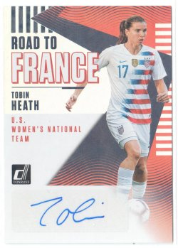 2019 Donruss Road to France Autographs Tobin Heath