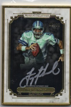 2013 Topps Museum Troy Aikman Gold Frame Auto