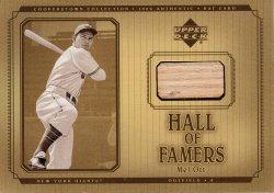 2001 Upper Deck Hall of Famers Game Bat Mel Ott