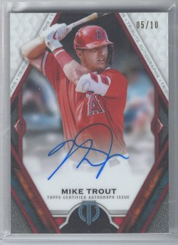 2021 Topps Tribute Mike Trout Red Refractor Autograph