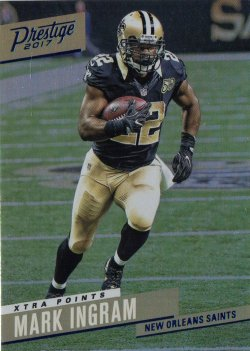 2017 Panini Prestige Xtra Points Blue Mark Ingram