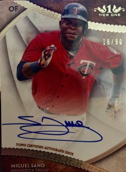 2017 Topps Tier One Miguel Sano