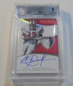 2015 Panini Immaculate Collection Eric Dickerson Collegiate patch autograph