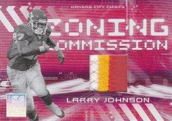 2006 Donruss Elite Zoning Commission Jerseys Prime Larry Johnson