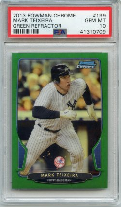 2013 Bowman Chrome Mark Teixeira Refractor Green