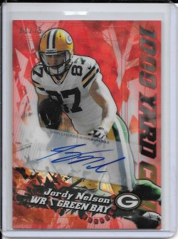 2014 Topps Chrome 1000 Yard Club Red Refractor Autograph - Jordy Nelson