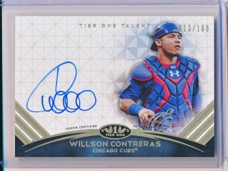Willson Contreras 2018 Topps Tier One Talent Autographs /160