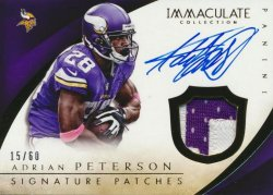 2014 Panini Immaculate Adrian Peterson Auto Patch
