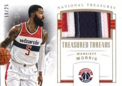 Panini National Treasures Treasured Threads Prime Markieef Morris