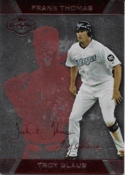 2007 Topps Co-Signers Silver Red