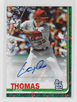 2019 Topps walmart holiday mega lane thomas