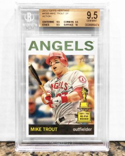 2013 Topps Heritage Mike Trout (Action) BGS 9.5