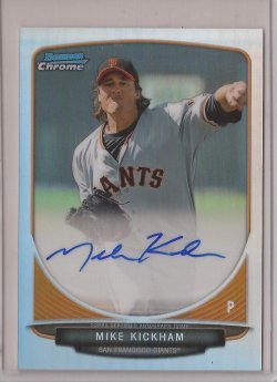 2013 Bowman Chrome Refractor Mike Kickham