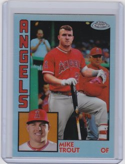 2019 Mike Trout Topps Chrome 84 Refractor     Angels A8892