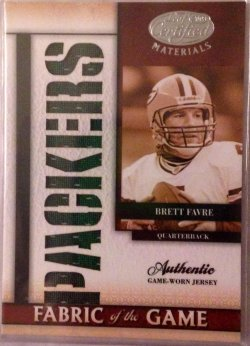 2008 Donruss Leaf Certified Materials Fabric of the Game Team Die-Cut Brett Favre