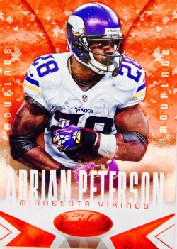 2014 Panini Certified Hot Box Camouflage   Adrian Peterson